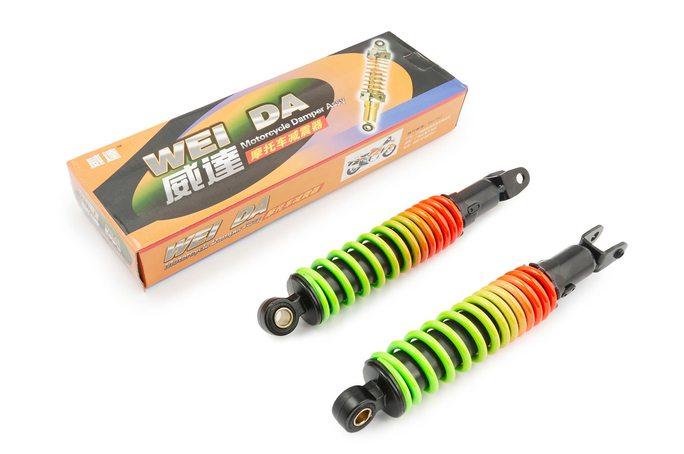 Амортизаторы (пара)   AD50   275mm, регулируемый   (радуга)   WEI DA