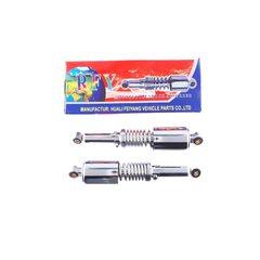 Амортизаторы (пара)   Delta   340mm, регулируемые   (хром, короткий стакан)   KOMATCU   (mod.A)