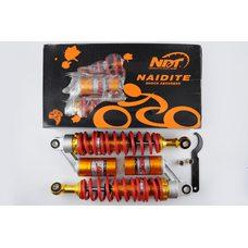 Купить Амортизаторы (пара)   Delta   330mm, газомасляные   (красно- оранжевые)   NDT в Интернет-Магазине LIMOTO