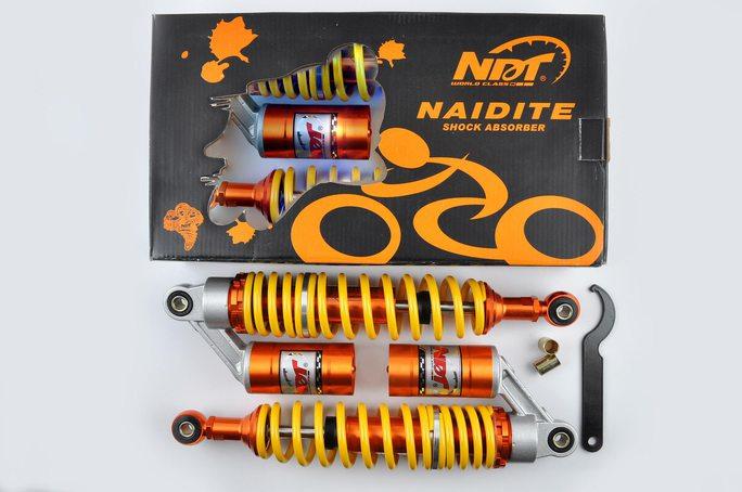 Купить Амортизаторы (пара)   Delta   340mm, газомасляные   (оранжевые)   NDT в Интернет-Магазине LIMOTO