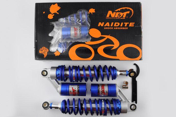 Купить Амортизаторы (пара)   Delta   330mm, газомасляные   (синие)   NDT в Интернет-Магазине LIMOTO