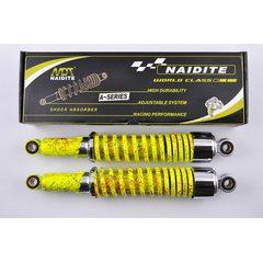 Амортизаторы (пара)   Delta   340mm, регулируемые   (лимонные +паутина, короткий стакан)   NDT