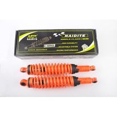 Амортизаторы (пара)   Delta   340mm, регулируемые   (оранжевые +паутина)   NDT