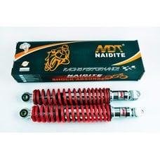 Купить Амортизаторы (пара)   GY6, DIO ZX   330mm, стандартные   (красный металлик)   NDT в Интернет-Магазине LIMOTO