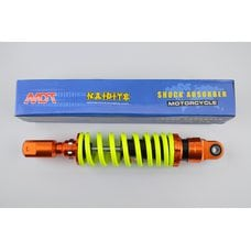 Купить Амортизатор   GY6, DIO, TACT   270mm, тюнинговый   (оранжево-лимонный)   NDT в Интернет-Магазине LIMOTO