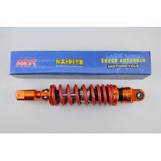 Купить Амортизатор   GY6, DIO, TACT   270mm, тюнинговый   (оранжево-красный)   NDT в Интернет-Магазине LIMOTO