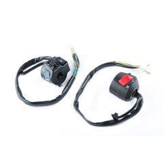 Блоки кнопок руля (пара)   Zongshen F5   (с двиг-стопом)   (черные)   XVP