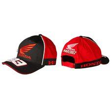 Купить Бейсболка   HONDA AND MARC MARQUEZ   (черно-красная, 100% хлопок) в Интернет-Магазине LIMOTO