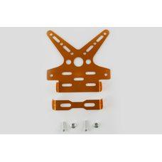 Купить Рамка для крепления номера и поворотников с регулируемым углом наклона    (желтая)   XJB в Интернет-Магазине LIMOTO