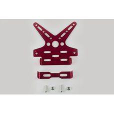 Купить Рамка для крепления номера и поворотников с регулируемым углом наклона    (красная)   XJB в Интернет-Магазине LIMOTO