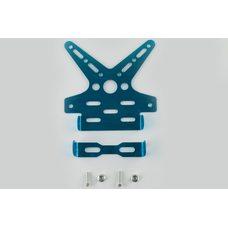 Купить Рамка для крепления номера и поворотников с регулируемым углом наклона    (синяя)   XJB в Интернет-Магазине LIMOTO