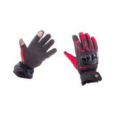 Купить Перчатки   (красно-черные, size M) с накладкой на кисть в Интернет-Магазине LIMOTO