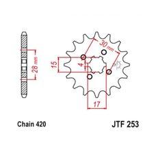 Купить Звезда трансмиссии (передняя)   Delta   420-15T   JT SPROCKET   #JTF253.15 в Интернет-Магазине LIMOTO