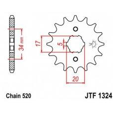 Звезда трансмиссии (передняя)   520-14T   Fourtrax TRX200/TIPE 2, Honda ATV   #JT JTF1324 Купить в Интернет-Магазине LIMOTO