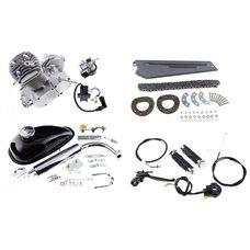 Купить Двигатель велосипедный (в сборе)   80сс   (бак, ручка газа, звезда, цепь, без стартера)   KOMATCU в Интернет-Магазине LIMOTO