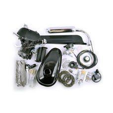 Купить Двигатель велосипедный (в сборе)   80сс   (бак, ручка газа, звезда, цепь, без стартера)   (черный)   EVO в Интернет-Магазине LIMOTO