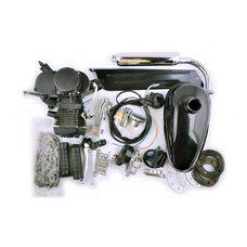 Купить Двигатель велосипедный (в сборе)   80сс   (мех.старт., бак, ручка газа, звезда, цепь)   (черный)   EVO в Интернет-Магазине LIMOTO