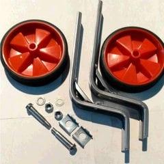Колеса боковые опорные велосипеда   (пластик) (12-20)   (красные)   YKX