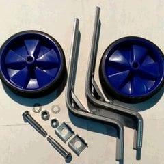 Колеса боковые опорные велосипеда   (пластик) (12-20)   (синие)   YKX