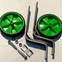 Колеса боковые опорные велосипеда   (пластик) (12-20)   (зеленые)   YKX