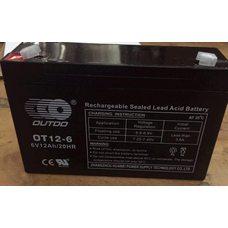 АКБ   6V 12А   AGM   (151х51х100)   OUTDO   (#AKY)