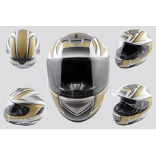 Купить Шлем-интеграл   (mod:368) (size:L, бело-золотой)   LS-2 в Интернет-Магазине LIMOTO