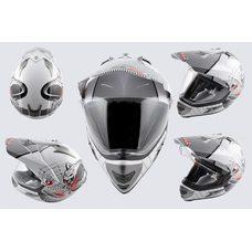 Купить Шлем кроссовый   (mod:MX433) (с визором, size:XL, белый, SNAKE)   LS-2 в Интернет-Магазине LIMOTO