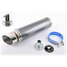 Купить Глушитель (тюнинг)   300*90mm, креп. Ø48mm   (нержавейка, карбон mod:1, прямоток, тип:2) в Интернет-Магазине LIMOTO