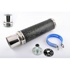 Купить Глушитель (тюнинг)   300*90mm, креп. Ø48mm   (нержавейка, мрамор черный, прямоток, тип:5) в Интернет-Магазине LIMOTO