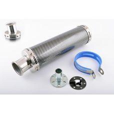 Купить Глушитель (тюнинг)   300*90mm, креп. Ø48mm   (нержавейка, карбон mod:2, прямоток, тип:1) в Интернет-Магазине LIMOTO