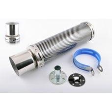 Купить Глушитель (тюнинг)   300*90mm, креп. Ø48mm   (нержавейка, карбон mod:2, прямоток, тип:5) в Интернет-Магазине LIMOTO