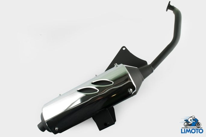 Глушитель   4T GY6 125/150   (+колено под 12)   (хром)   (mod:1)   KOMATCU