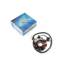 Купить Статор генератора   4T GY6 50   (6+2 катушек, 4 контакта)   KOMATCU в Интернет-Магазине LIMOTO