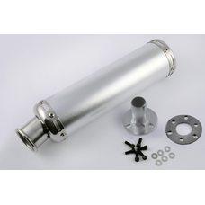 Купить Глушитель (тюнинг)   300*90mm, креп. Ø48mm   (нержавейка, серебро, прямоток, mod:9) в Интернет-Магазине LIMOTO