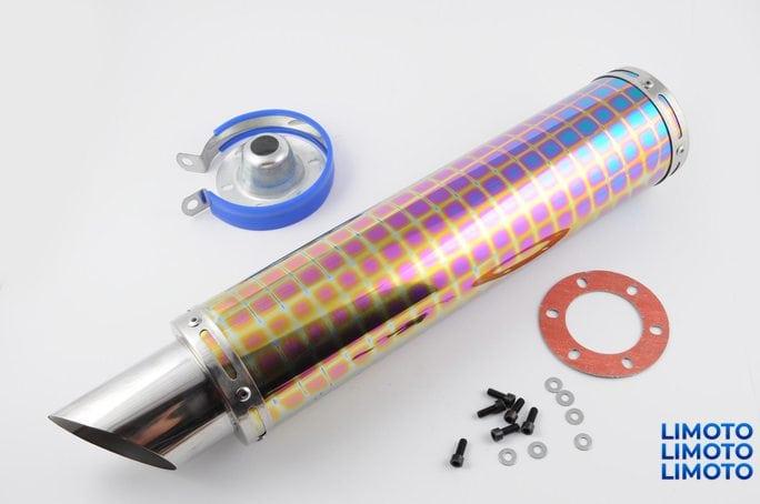 Глушитель (тюнинг)   420*100mm, креп. Ø78mm   (нержавейка, квадраты, mod:35)