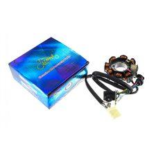 Купить Статор генератора   4T CB/CG 150   (7+1 катушек, 5 проводов)   KOMATCU   (mod.A) в Интернет-Магазине LIMOTO