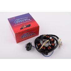 Купить Статор генератора   4T GY6 50   (6+2 катушек, 4 контакта)   CYCLER в Интернет-Магазине LIMOTO