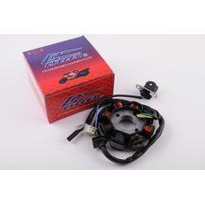 Купить Статор генератора   4T GY6 50   (6+2 катушек, 5 контактов)   CYCLER в Интернет-Магазине LIMOTO
