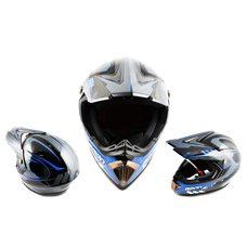 Шлем кроссовый   (mod:B-600) (size:L, черно-синий)   BEON Купить в Интернет-Магазине LIMOTO