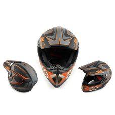Купить Шлем кроссовый   (mod:B-600) (size:ХL, черно-оранжевый матовый)   BEON в Интернет-Магазине LIMOTO