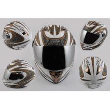 Купить Шлем-интеграл   (mod:В-500) (size:XL, белый матовый, зеркальный визор, BLADE)   BEON в Интернет-Магазине LIMOTO