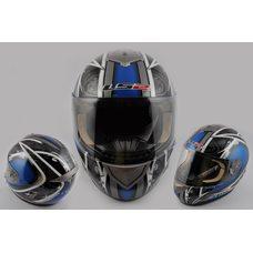 Купить Шлем-интеграл   (mod:366) (size:XXL, черно-синий)   LS-2 в Интернет-Магазине LIMOTO