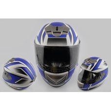 Купить Шлем-интеграл   (mod:368) (size:XL, бело-синий матовый)   LS-2 в Интернет-Магазине LIMOTO