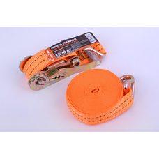 Ремень стяжной с натяжным механизмом 1500кг, оранжевый   LAVITA