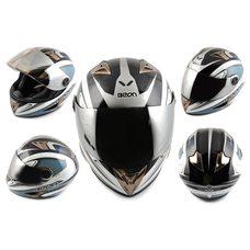 Купить Шлем-интеграл   (mod:B-500) (size:XL, голубой, зеркальный визор, X-CELERATE)   BEON в Интернет-Магазине LIMOTO