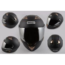 Купить Шлем-интеграл   (mod:B-500) (size:XL, черный матовый, зеркальный визор)   BEON в Интернет-Магазине LIMOTO