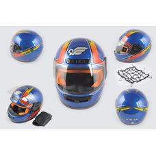Купить Шлем-интеграл   (mod:101) (size:XL, сине-красный, воротник, багажник)   KAVIR в Интернет-Магазине LIMOTO