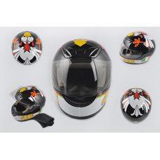 Купить Шлем-интеграл   (mod:012) (size:XXL, черный, воротник, CRAZY CHICKEN)   YOUAI в Интернет-Магазине LIMOTO