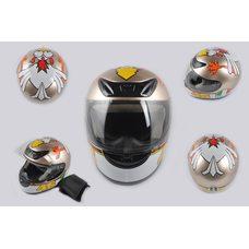Купить Шлем-интеграл   (mod:012) (size:XXL, бронза, воротник, CRAZY CHICKEN)   YOUAI в Интернет-Магазине LIMOTO