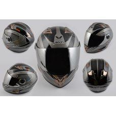 Купить Шлем-интеграл   (mod:B-500) (size:XL, черный, зеркальный визор, X-CELERATE)   BEON в Интернет-Магазине LIMOTO